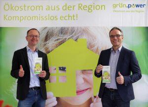 Matthias Roth und Josef Werum, Geschäftsführer der grün.power GmbH